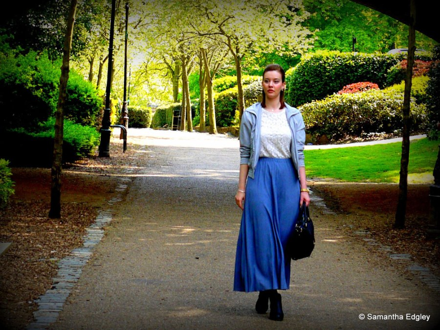 Helen walking through Alexandra Palace