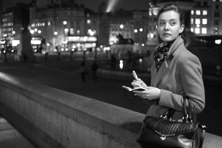 Helen Lloyd at Trafalgar Square