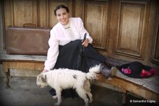 Maya with dog