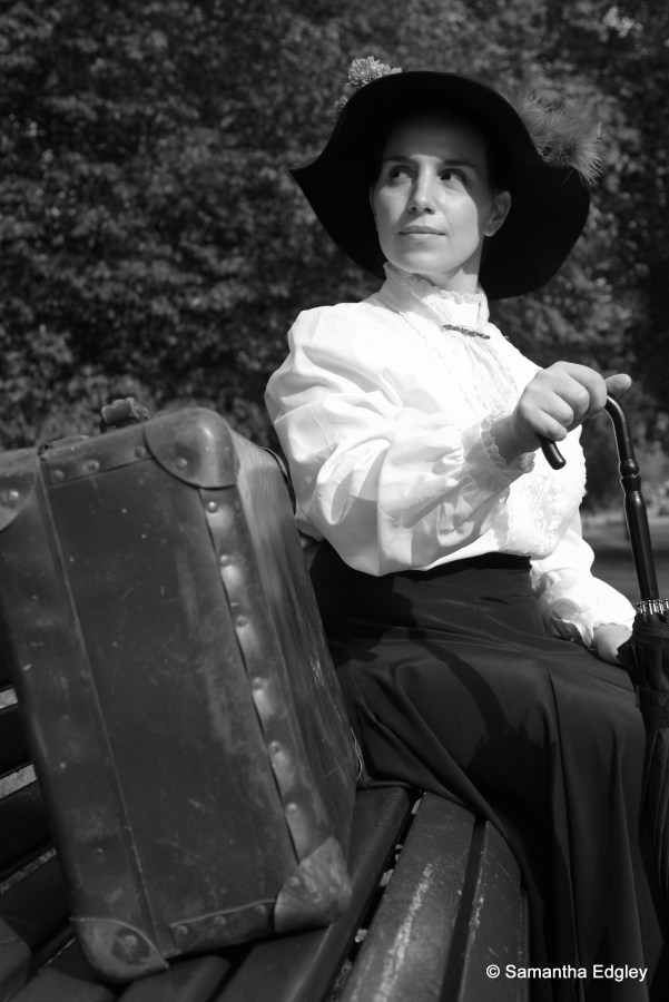 Maya on a bench