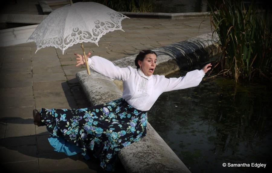 Maya falling into water